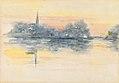 Henry Bacon - Church and Lake - 1952.13.3 - Smithsonian American Art Museum.jpg