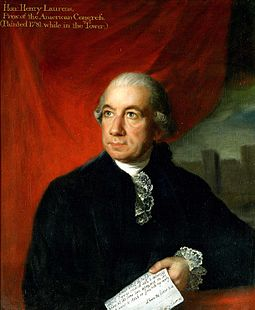 Henry Laurens was president of the Continental Congress when the Articles were passed on November 15, 1777. Henry laurens.jpg