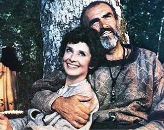 Connery with Audrey Hepburn in Robin and Marian (1976) Hepburn Connery Robin and Marian Still 1976.jpg