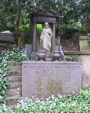 Herbert Bartlett - The family grave of Herbert Bartlett in Highgate Cemetery