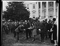 Herbert Hoover and group outside White House, Washington, D.C. LCCN2016889237.jpg