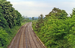 Heytesbury railway station - Site of the station (1994)