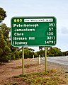 Highway sign, Orroroo, 2017 (01).jpg