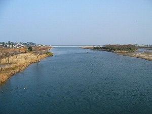 Hino River - Hino River near Yonago, Tottori Prefecture
