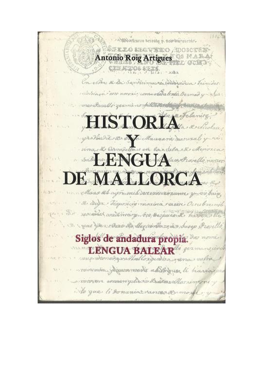 File:Historia de la lengua Mallorquina.pdf - Wikimedia Commons