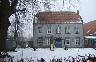 Ekel (Norden) - The so-called Ekel Outwork, a 16th century stone house. Seen from the Langer Pfad.