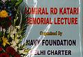Hoarding of the 24th Admiral RD Katari Memorial Lecture.JPG