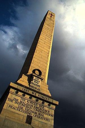 Hobart Cenotaph - Image: Hobart War Memorial Cenotaph 2008