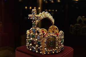 Imperial Treasury, Vienna - Imperial Crown of the Holy Roman Empire, kept in the Imperial Treasury at the Hofburg Palace in Vienna