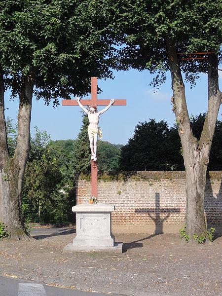 Homblières (Aisne) croix de chemin 1898
