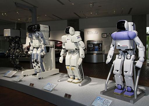 Honda prototype robots Honda Collection Hall