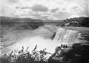 Honeymoon Bridge (Ontario) - Image: Honeymoon Bridge, Niagara Falls (1900)