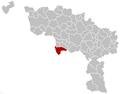 Honnelles Hainaut Belgium Map.png