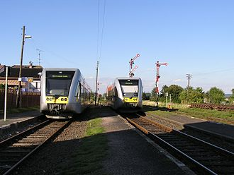 Friedberg–Mücke railway - Trains in Beienheim station