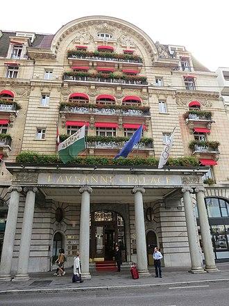 Thomas Bach - Image: Hotel Lausanne Palace