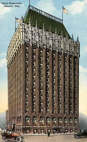Omaha, Nebraska - The Hotel Fontenelle, formerly located in downtown Omaha.