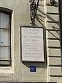 House of Ioannis Kapodistrias (Geneva) - plaque 2.JPG