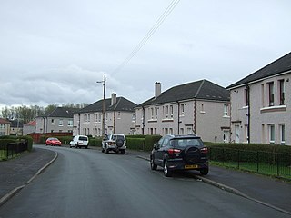 Carntyne district in Glasgow City, Scotland, UK