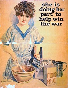 World War I US poster calling girls to help out.