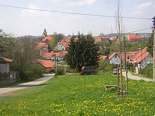 Hrusice Village in Czech Republic