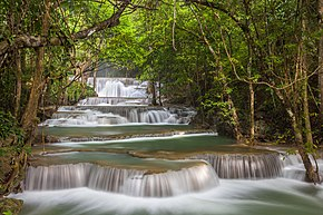 Huai Mae Khamin Waterfall, Srisawat District, Srinakarin Dam National Park.jpg