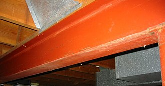 I-beam - This I-beam is used to support the first floor of a house.