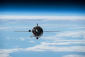 Soyuz TMA-16M - Soyuz TMA-16M approaches the ISS, 28 March 2015.