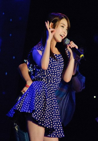 IU (singer) - IU at a Disney Channel and Disney Junior launching event in South Korea on June 29, 2011.