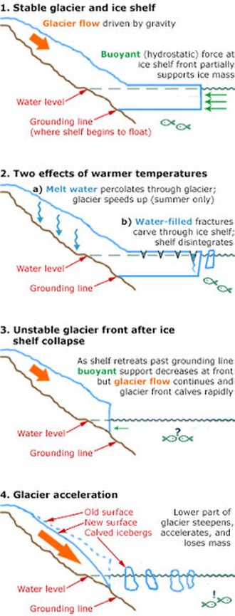 Ice-sheet dynamics - Factors controlling the flow of ice