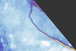 Iceberg A-68 - Image: Iceberg A 68 on July 12, 2017