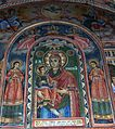 Icon of Virgin and Child in Anti-Chamber of church at monastery.JPG