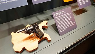 Igor Gouzenko - Igor Gouzenko's pistol, which he was carrying when hiding in his neighbor's apartment (exhibit of the International Spy Museum in Washington, DC).