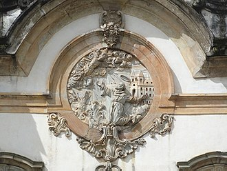 Church of Saint Francis of Assisi (Ouro Preto) - Relief on the facade