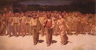 Fourth Estate - Il quarto stato (1901): a march of strikers in Turin, Italy