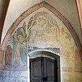Im frühen 14. Jahrhundert schuf Rudolphus von Wimpfen die Fresken in der Marienkirche. In der Seitenkapelle.jpg