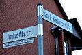 Imhoffstraße Legende am Straßenschild Karl-Kellner-Straße in Langenhagen, Karl Imhoff (1876-1065), Ingenieur, Erfinder, führender Siedlungswissenschaftler.jpg