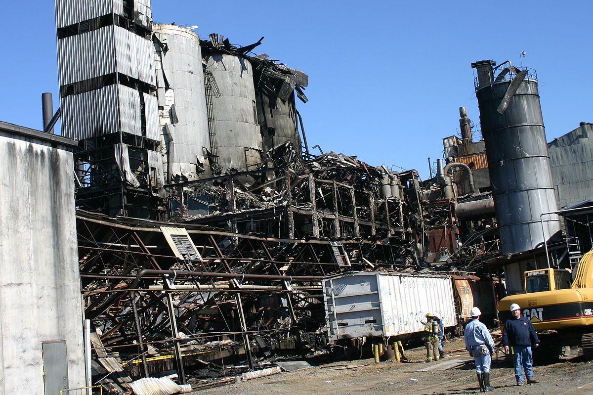 Sugar Silos At Centre Of Georgia Us Refinery Blast That