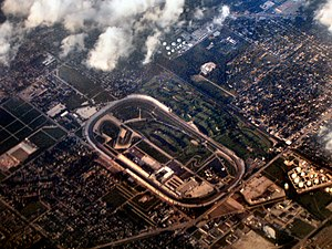 Indianapolis Motor Speedway from the air.