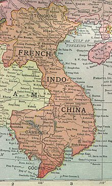 1913 map of French Indochina