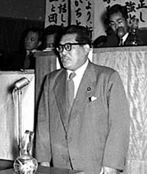 Inejiro Asanuma - Asanuma in 1955
