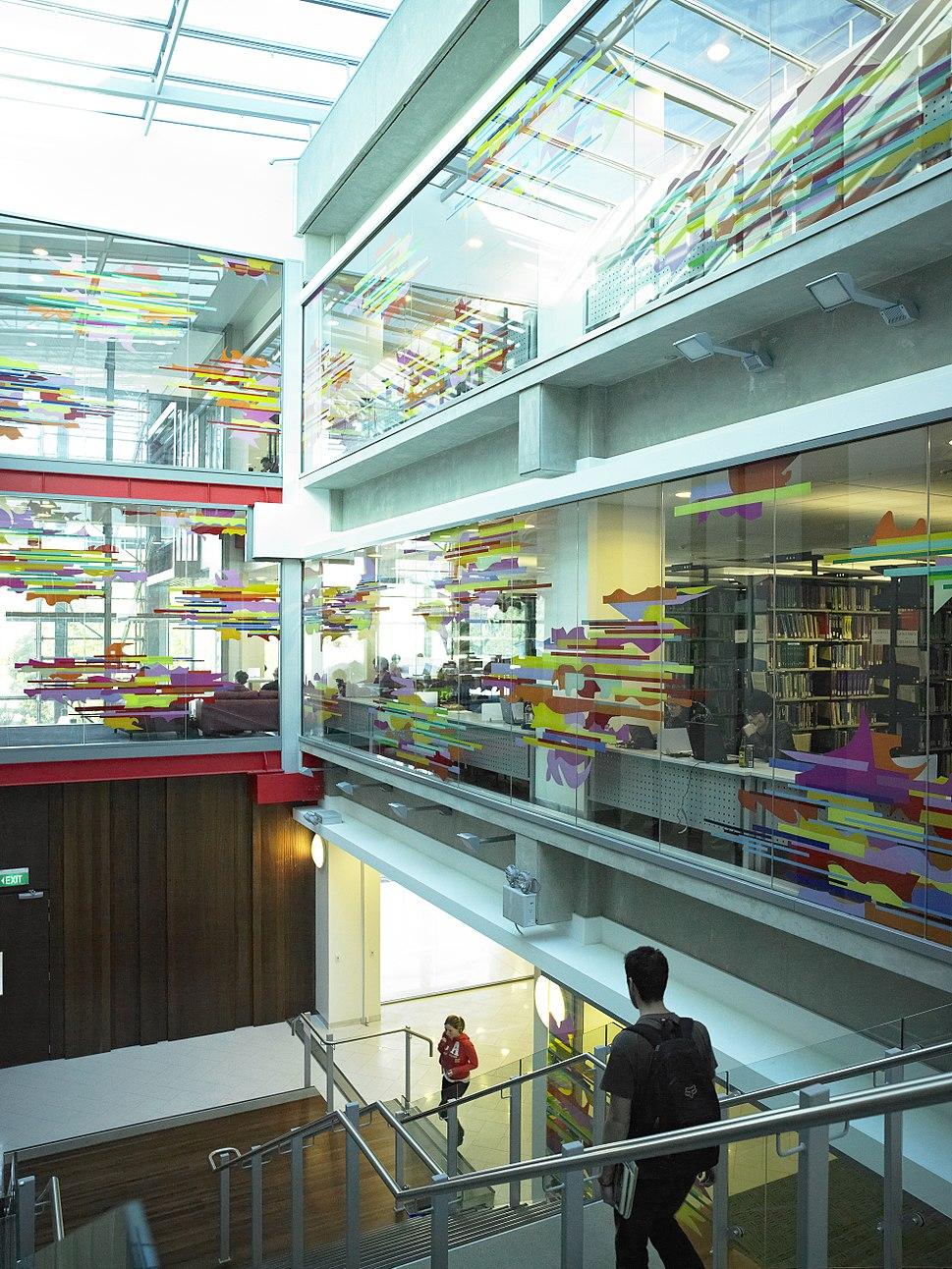 Inside the Waikato University Student Centre