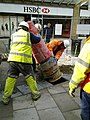 Installing a postbox, Canal Walk, Swindon (3 of 4) - geograph.org.uk - 1749756.jpg