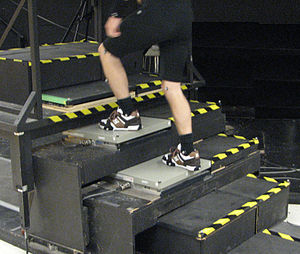 Force platform - Stairway instrumented with two AMTI strain-gauged force platforms.