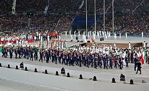 2014 Asian Games Parade of Nations - Iran entering the stadium with Behdad Salimi carrying the flag