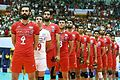 Iran men's national volleyball team before a match against the united states national team.jpg