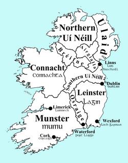 Map Of Ireland Gaeilge.List Of Irish Kingdoms Wikipedia