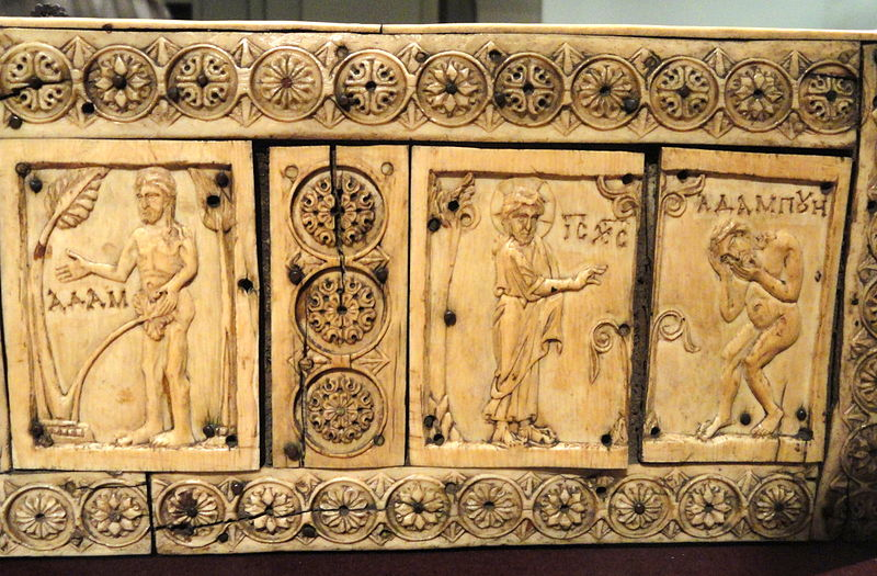File:Ivory Box with Scenes of Adam and Eve, 1000-1100s AD, Byzantine, Constantinople, ivory, wood - Cleveland Museum of Art - DSC08379.JPG