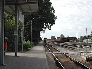 Jõgeva - Image: Jõgeva train station 2005