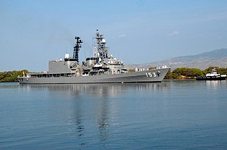 Asagiri-class destroyer - Image: JDS Yugiri DD 153