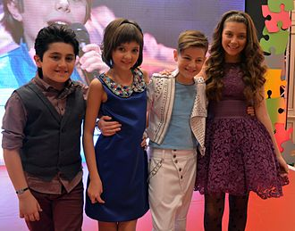 Junior Eurovision Song Contest 2013 - David Vardanyan (Armenia), Mariya Bakhireva (Russia), Denis Midone (Moldova), Maxine Pace (Malta)
